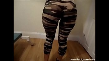 camo tight leggings booty