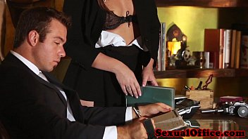 Flashing redhead secretary seducing her boss thumbnail