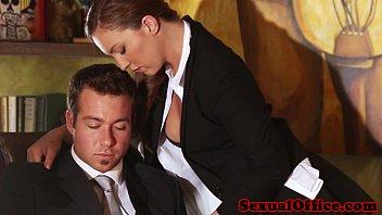 Image: Flashing redhead secretary seducing her boss