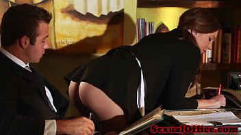 Lady love office secretary stocking tgp Flashing redhead secretary seducing her boss