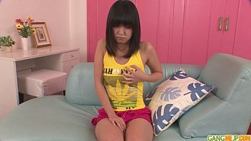 Kotomi Teen Asian Gives Blowjobs In A Threesome