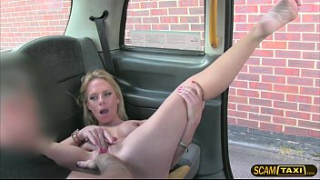 Horny blondie girl enjoys having sex with the pervy driver