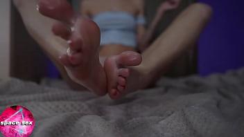 Skinny Teen Oil Massage Feet - Foot Fetish