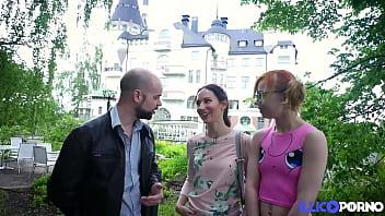 Lily Moon & Girlfriend Kira Enjoy Big French Cock 15 min