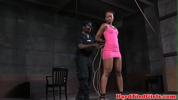 Ebony bdsm sub toyed by black maledom 8 min