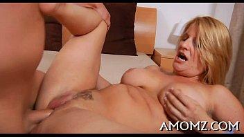 Mom sucks son free video Mamma receives her anal creampied