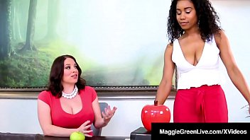 Ebony Student Jenna Foxx Sits On Ms. Maggie Green's Face!