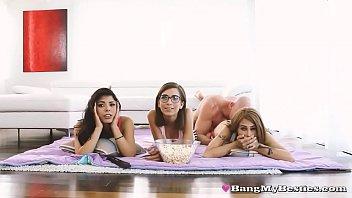 Pervy Step Bro Fucks Sis Gina Valentina & Her Beautiful Pals thumbnail