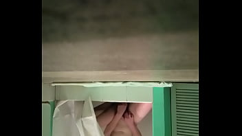 Filming my roommate under door while she masturbates in shower