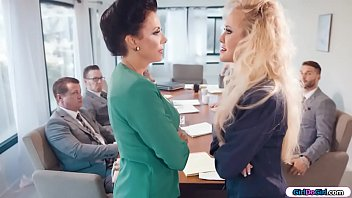 Streaming Video Busty businesswomen licking in boardroom - XLXX.video