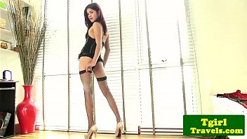 Tranny sex title object object - Ladyboy ning in corset shows tight ass