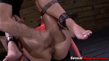 Bdsm slave gets fingered