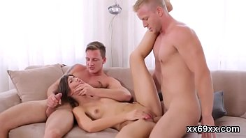 Fellow assists with hymen checkup and pounding of virgin nympho