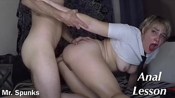 First Time Anal for Curious Teen Schoolgirl / Straight to the Ass & Cum Swallow