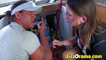 JizzOrama - Huge Muscle Repair Man Fuck Amateur Brunette