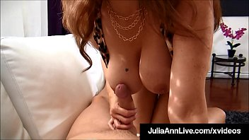 Magical Dick Milking Milf Julia Ann Busts Lucky Nut After BJ