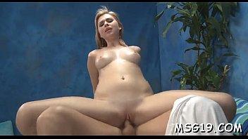 Frisky girl acquires facial cum load