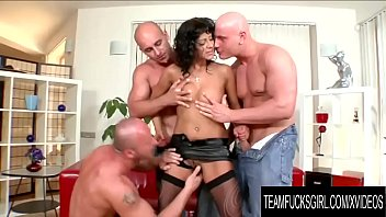 Cum tera - Team fucks girl - cock hungry tera joy gets a dp gangbang by three bald men