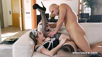 Private.com - Horny Maid Sofia Curly Gets Boss Cum Facial! 11 min