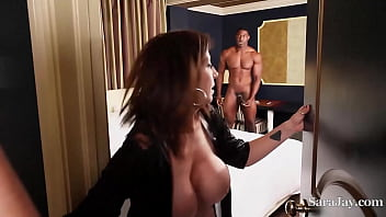 Sara Jay Invites Her Maid Maggie Green Over For A 3Some With Her Hubby 6 min