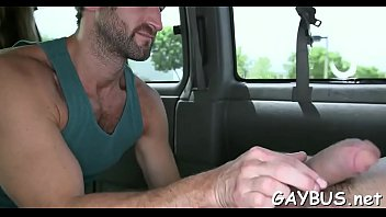 Blindfolded stud is tricked by a gay hunk into having blow job