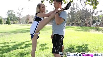 Cowboys cheerleaders in bikini Petite cheerleader carmen fucks with a stranger