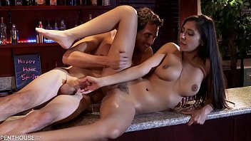Penthouse Pet Gianna Dior gets Slutty on Holiday and Fucks the Bartender