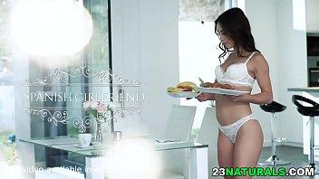 Latina beauty Anastasia Brokelyn has breakfast with a dick
