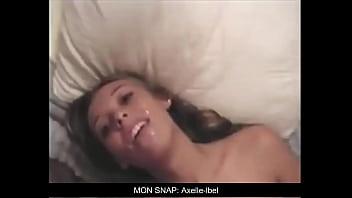 Slut swallowing cum