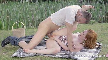 Streaming Video Private.com - Smoking Redhead Ella Hughes Banged Outside! - XLXX.video