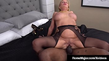 GILF Prestley St Claire Gets Rome's Big Black Cock