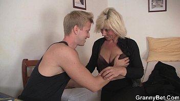 He doggystyles blonde old women 6 min