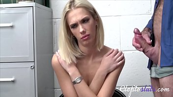 Blonde Teen Forced To Not Steal Again By Cop- Sky Pierce