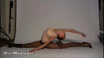 Blonde Long-Legs Contortionist Olga