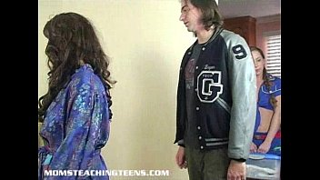 Moms teaching teens dynamite Mom teaching teen how to suck and fuck