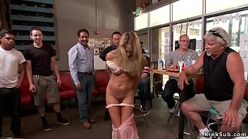 Blonde anal fisted and fucked in public 5 min