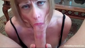 Granny Cocksucker Takes The Cumshot