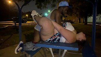 bbw getting fucked at the public park