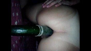 Playing with the cucumber, playing with the cucumber
