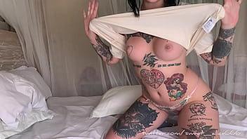 Girl next door caught dildo fucking her pussy
