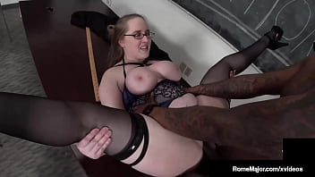 Pink Professor Pussy Andi Ray Blows & Bangs Horny Big Cock Rome Major!