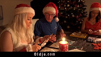 Old fashioned vintage christmas chinaware Mr nobel santas helper fucks the nasty girl to punish them