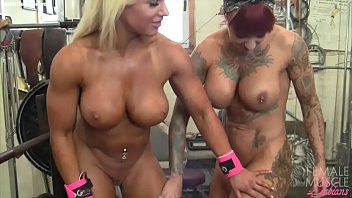 Nude femail bodybuilders - Female bodybuilder lesbians tattoos and tits