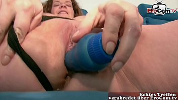 Lady Masturbates Hard With A Big Dildo
