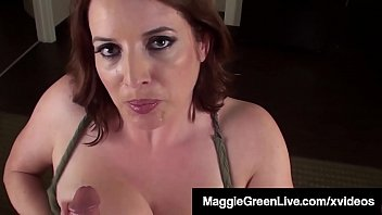 Cum Starved Maggie Green Welcomes Her Hubby's Hard Cock!