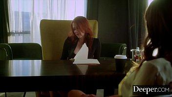 Deeper. Maitland Trains Secretary Riley To Serve Her Boss