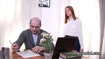 Kissable schoolgirl gets seduced and poked by elder instructor