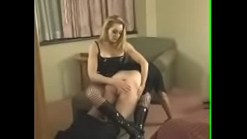 Miss spanks over the knee erection Otk f/m spanking