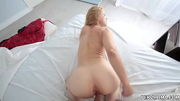 Lucky stepson gets her moms milf pussy as he thrusts her from behind!