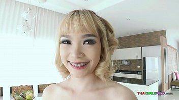 Petite Blonde Thai Girl Gets Oral Cumshot